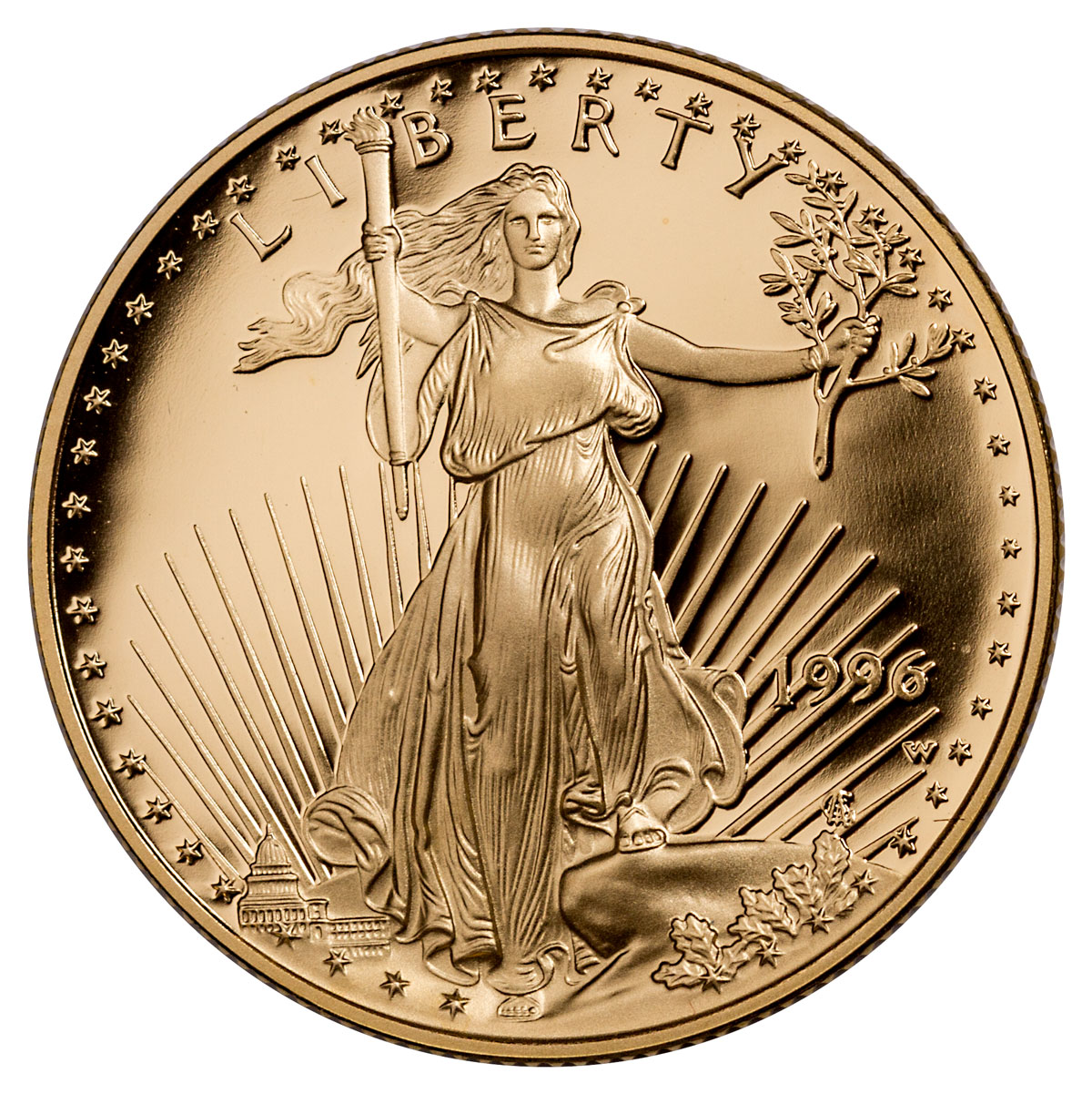 1996-W 1/2 oz Gold American Eagle Proof $25 OGP