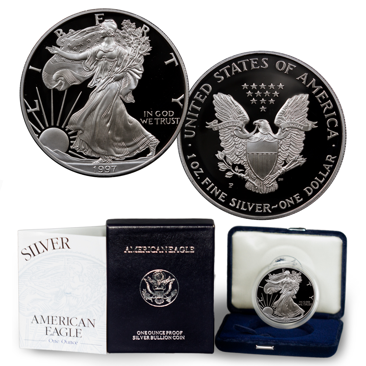 1997-P Proof American Silver Eagle (OGP)