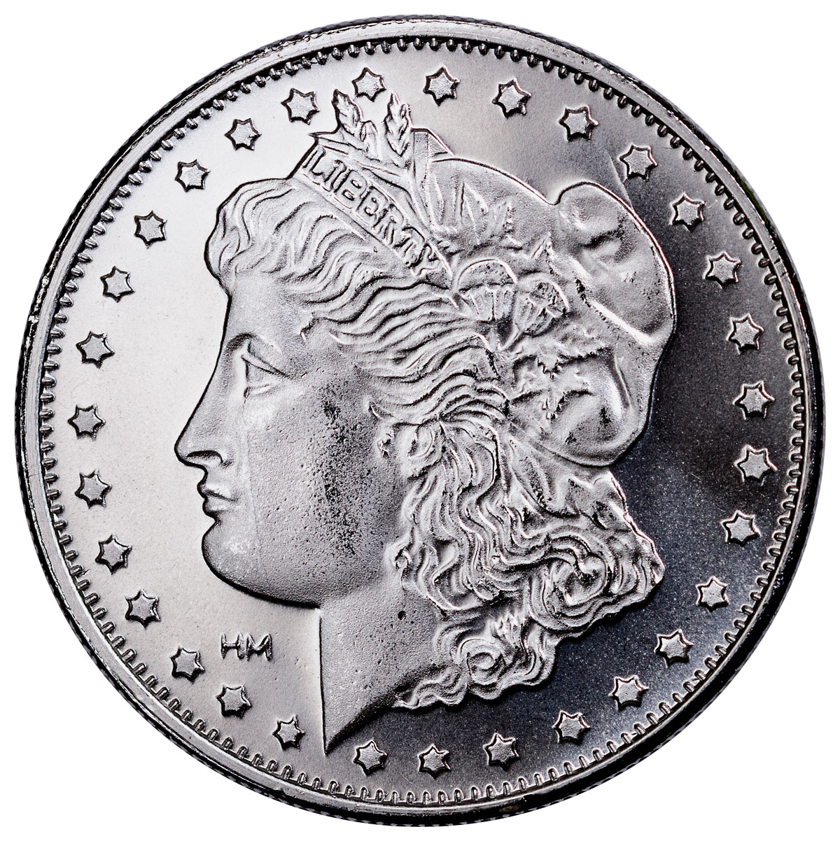 Highland Mint Morgan Dollar Design 1 oz Silver Round-25% Rotated Die