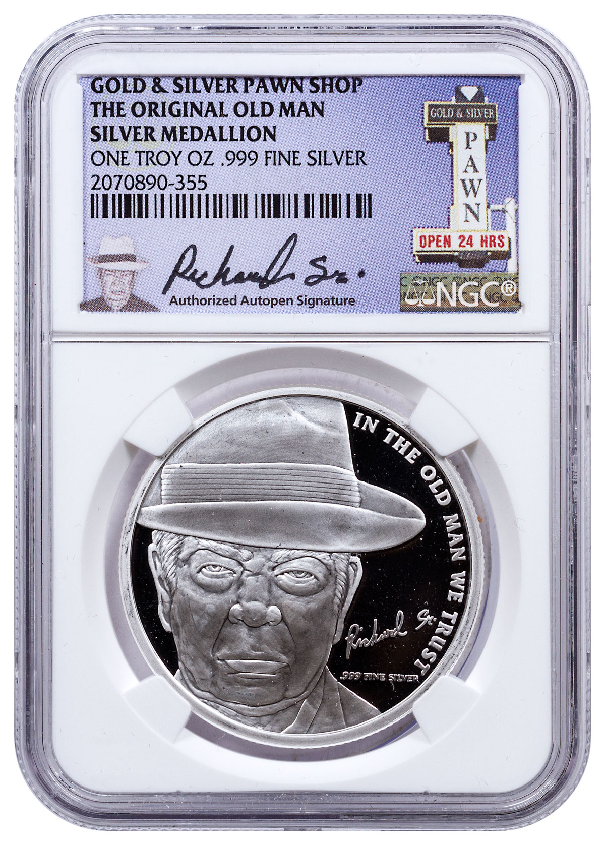 2016 Pawn Shop Old Man S 71st 1 Oz Silver Medal Ngc
