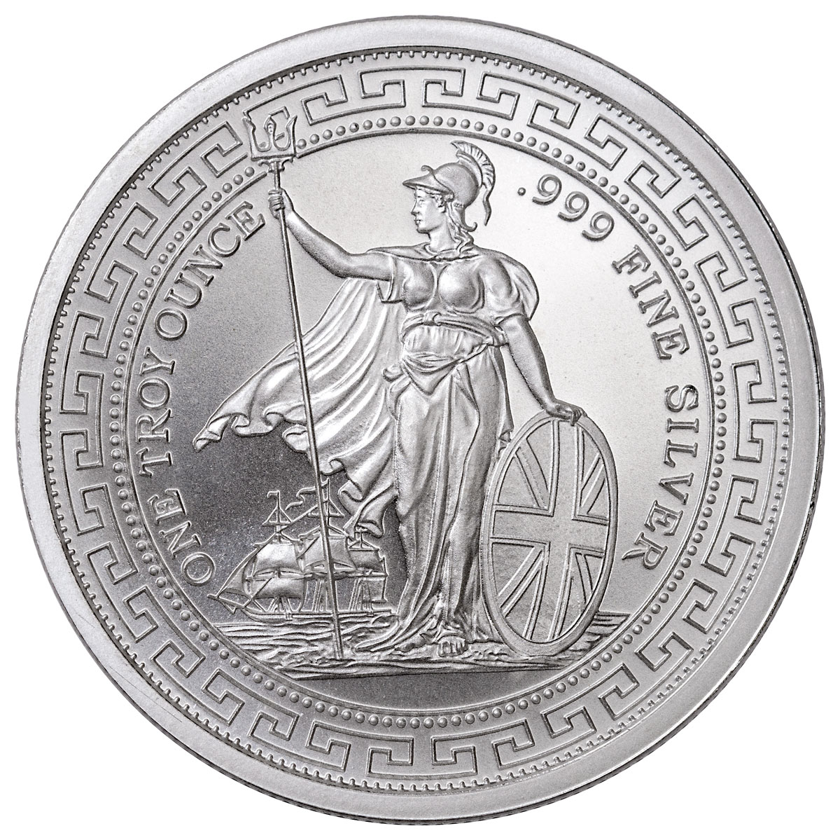 1 oz. Silver British Trade Dollar Design Round BU