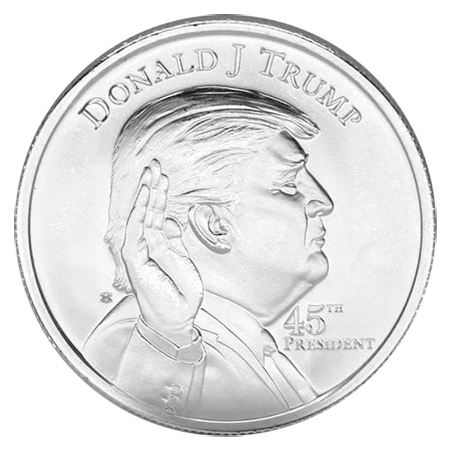 45th President of the USA 3-D Donald Trump 1 oz .999 Solid Silver Round//Coin