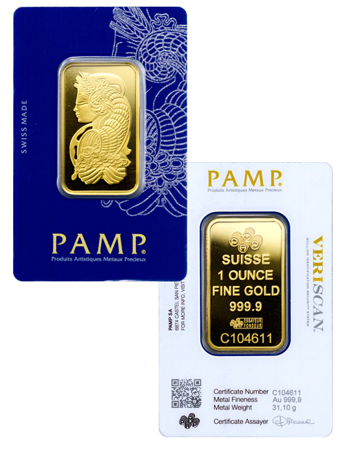 PAMP Fortuna 1 oz Gold Bar In Assay