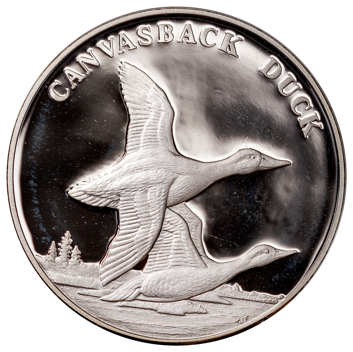 2003 United States National Wildlife Refuge Canvasback Duck Silver Proof Medal GEM Proof