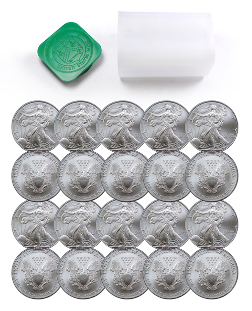 2003 American Silver Eagle Roll of 20 Coins GEM BU