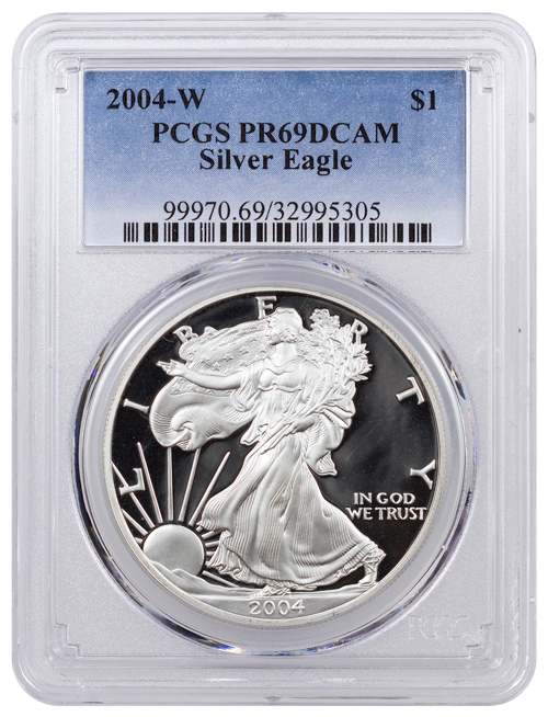 2004-W Proof American Silver Eagle PCGS PR69 DCAM