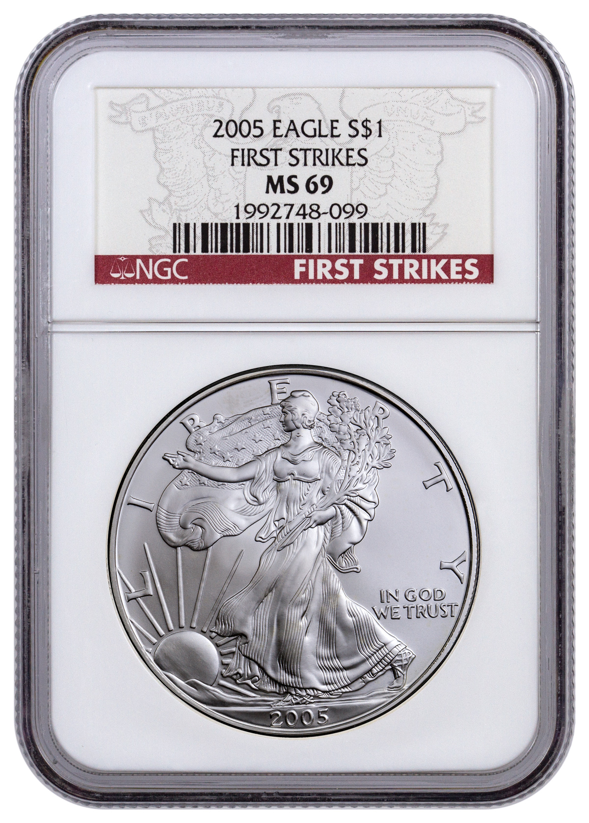 2005 American Silver Eagle NGC MS69 FS