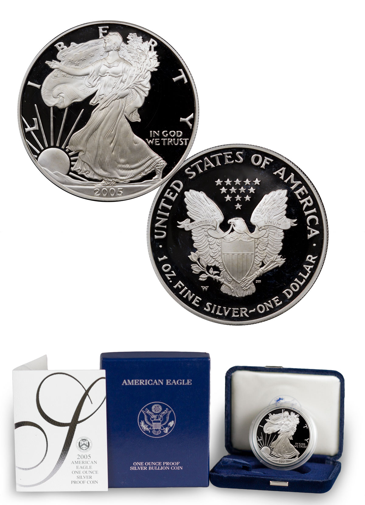 2005-W Proof American Silver Eagle (OGP)