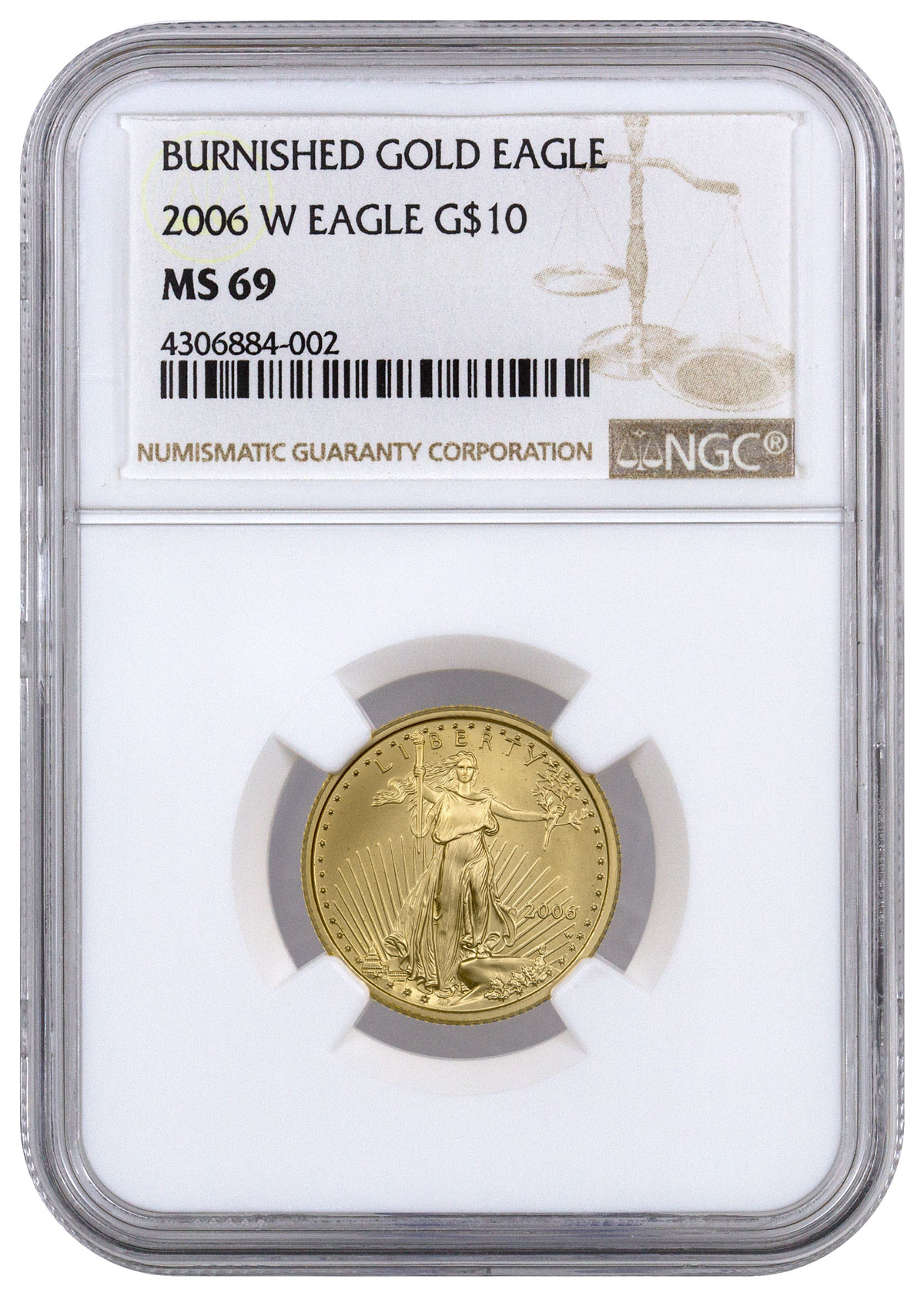 2006-W 1/4 oz Burnished Gold American Eagle $10 NGC MS69
