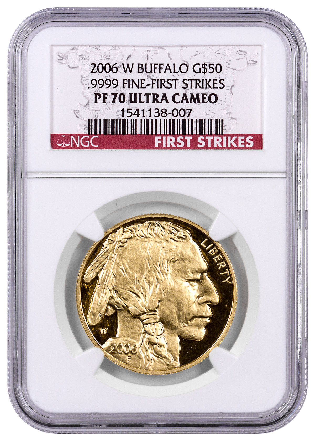 2006-W 1 oz Gold Buffalo Proof $50 NGC PF70 UC FS