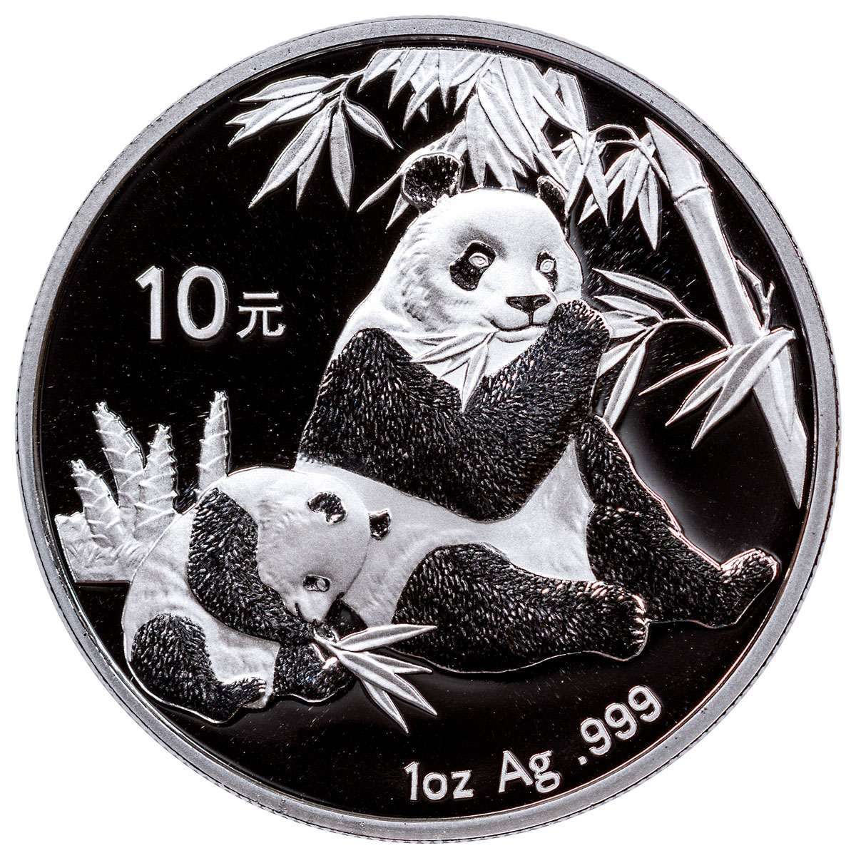 2007 China 1 oz Silver Panda ¥10 Coin BU