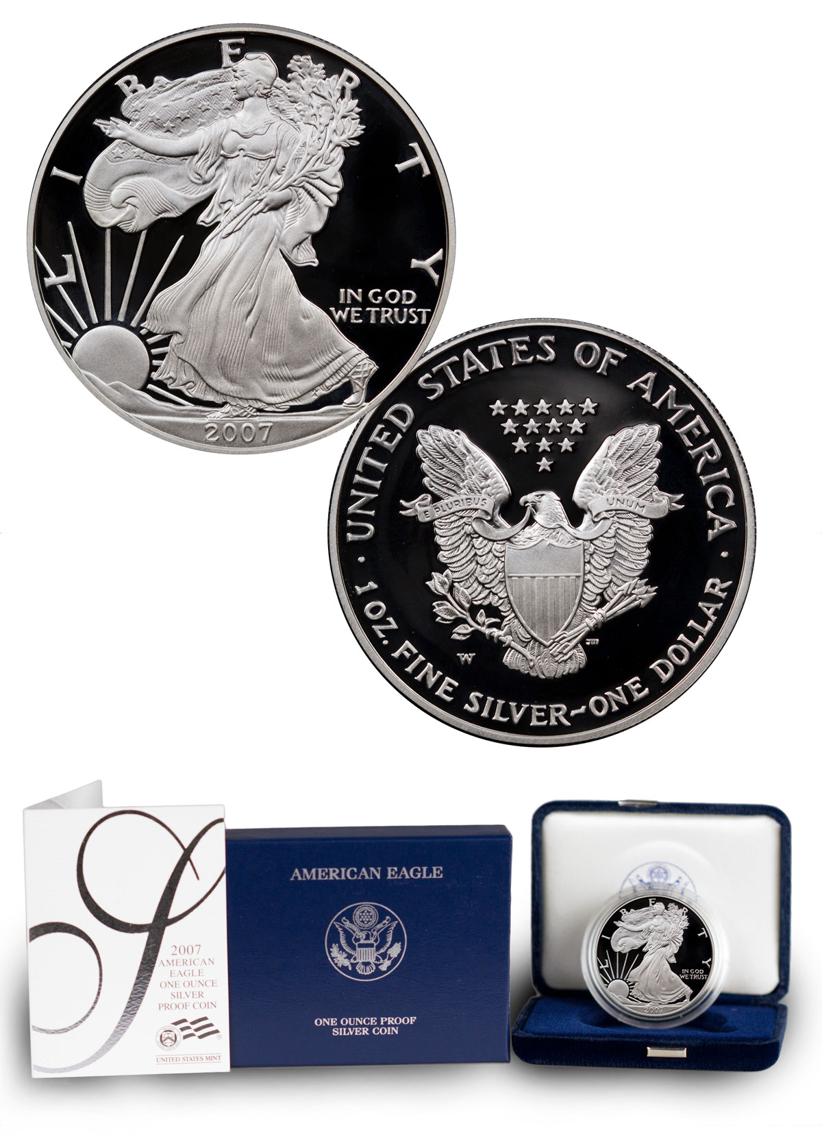 2007-W Proof American Silver Eagle (OGP)