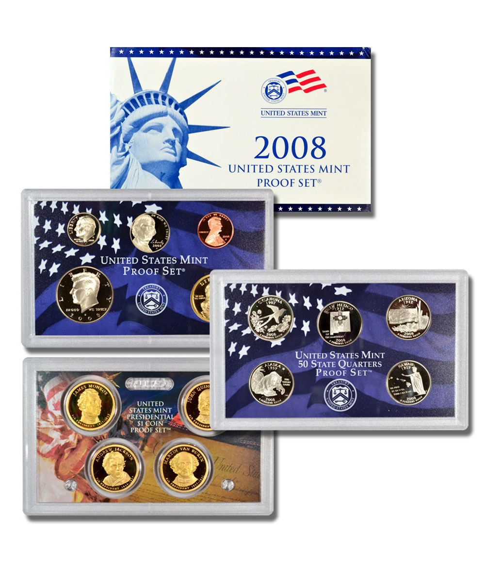 2008-S U.S. Proof Coin Set GEM Proof OGP