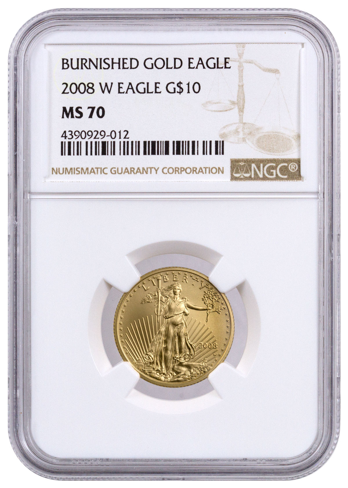 10 Gold Smoky Eye Tutorials For Fall: 2008-W 1/4 Oz Burnished Gold American Eagle $10 NGC MS70
