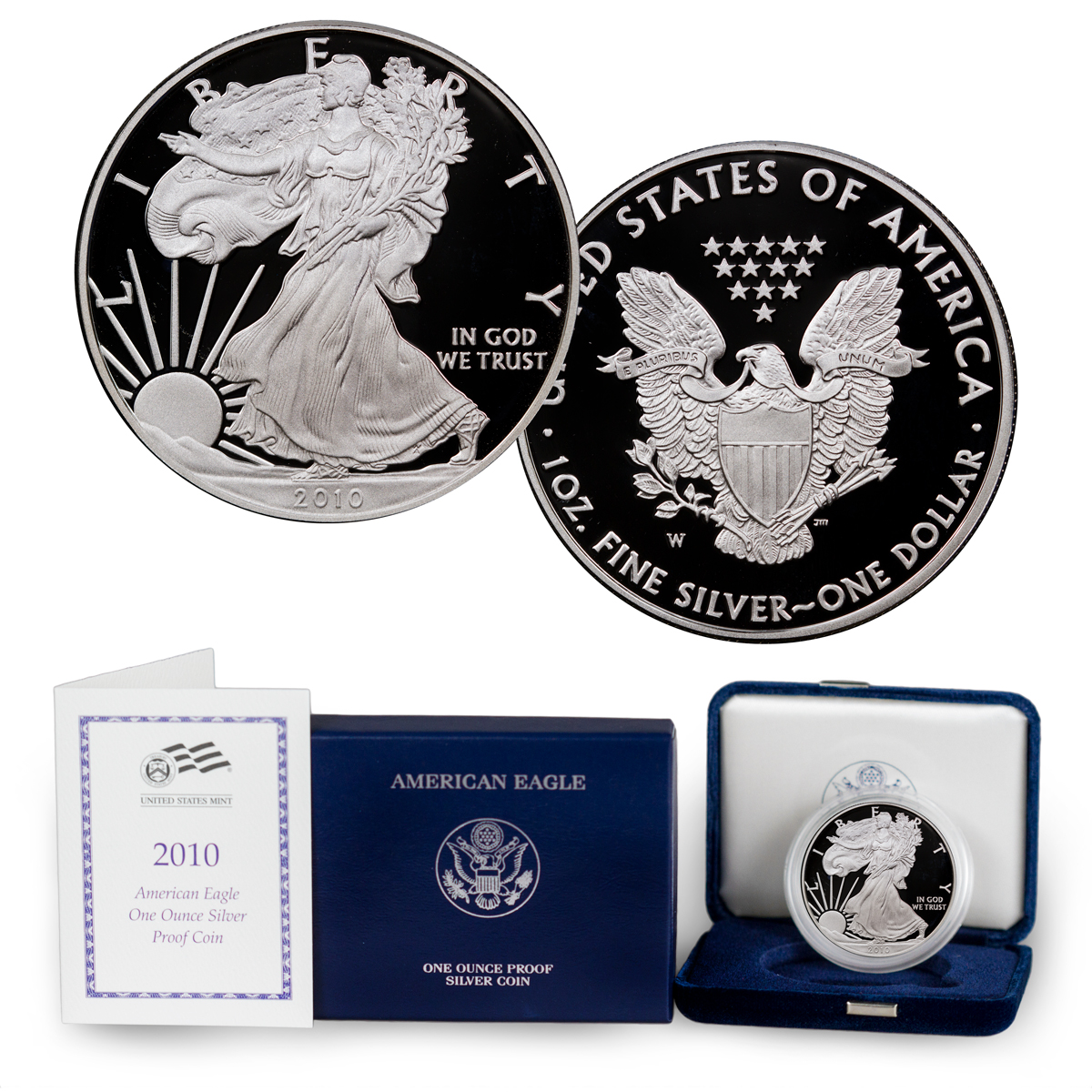 2010-W Proof American Silver Eagle (OGP)
