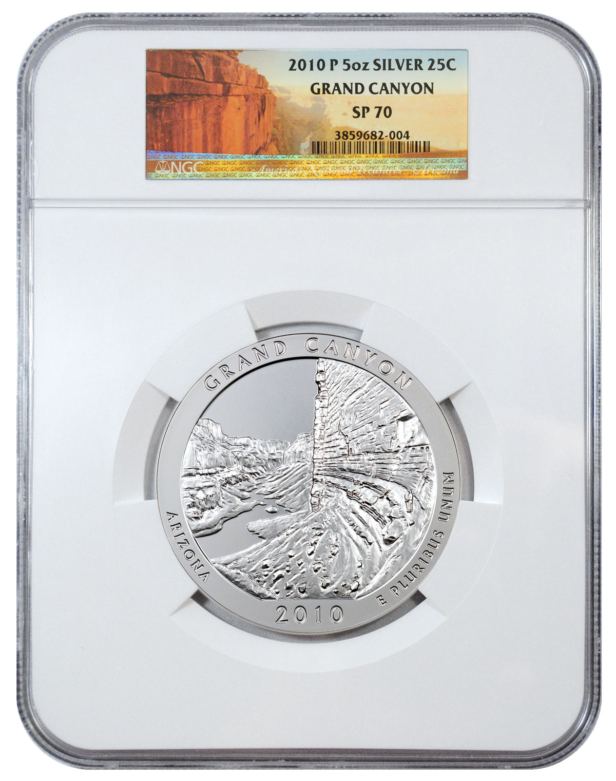 2010-P Grand Canyon 5 oz. Silver America the Beautiful Specimen Coin NGC SP70