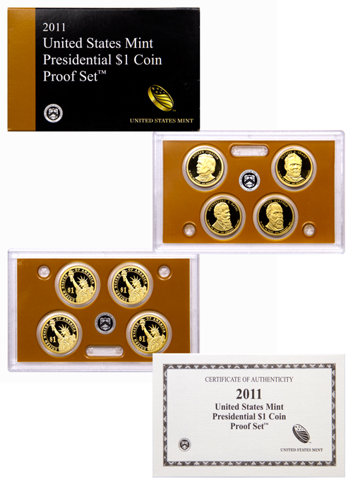 2011-S U.S. Presidential Dollar Proof Set GEM Proof OGP