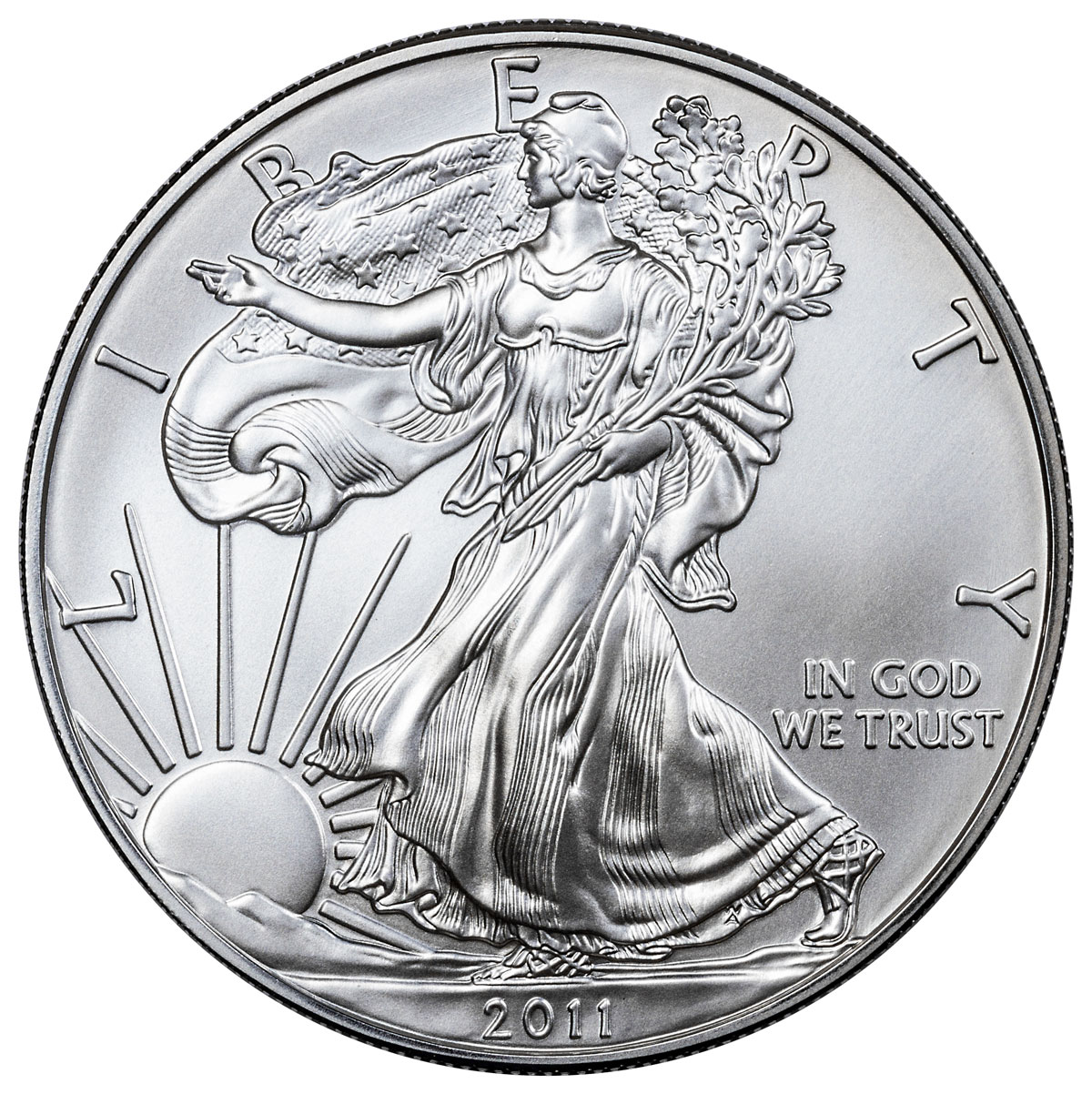 2011-W Burnished Silver Eagle GEM BU