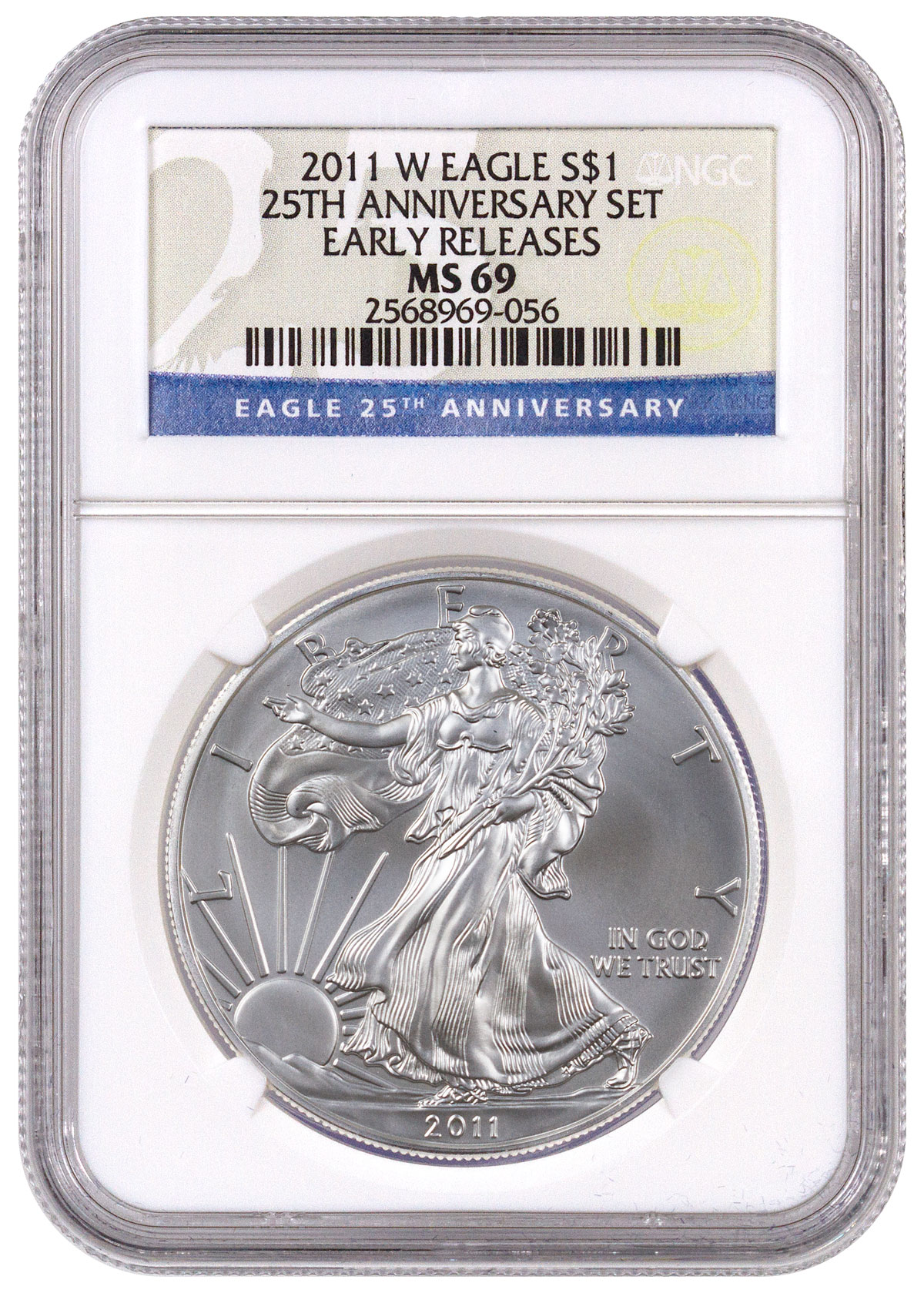 2011 W West Point Silver Eagle Ngc Ms69 Er Moderncoinmart
