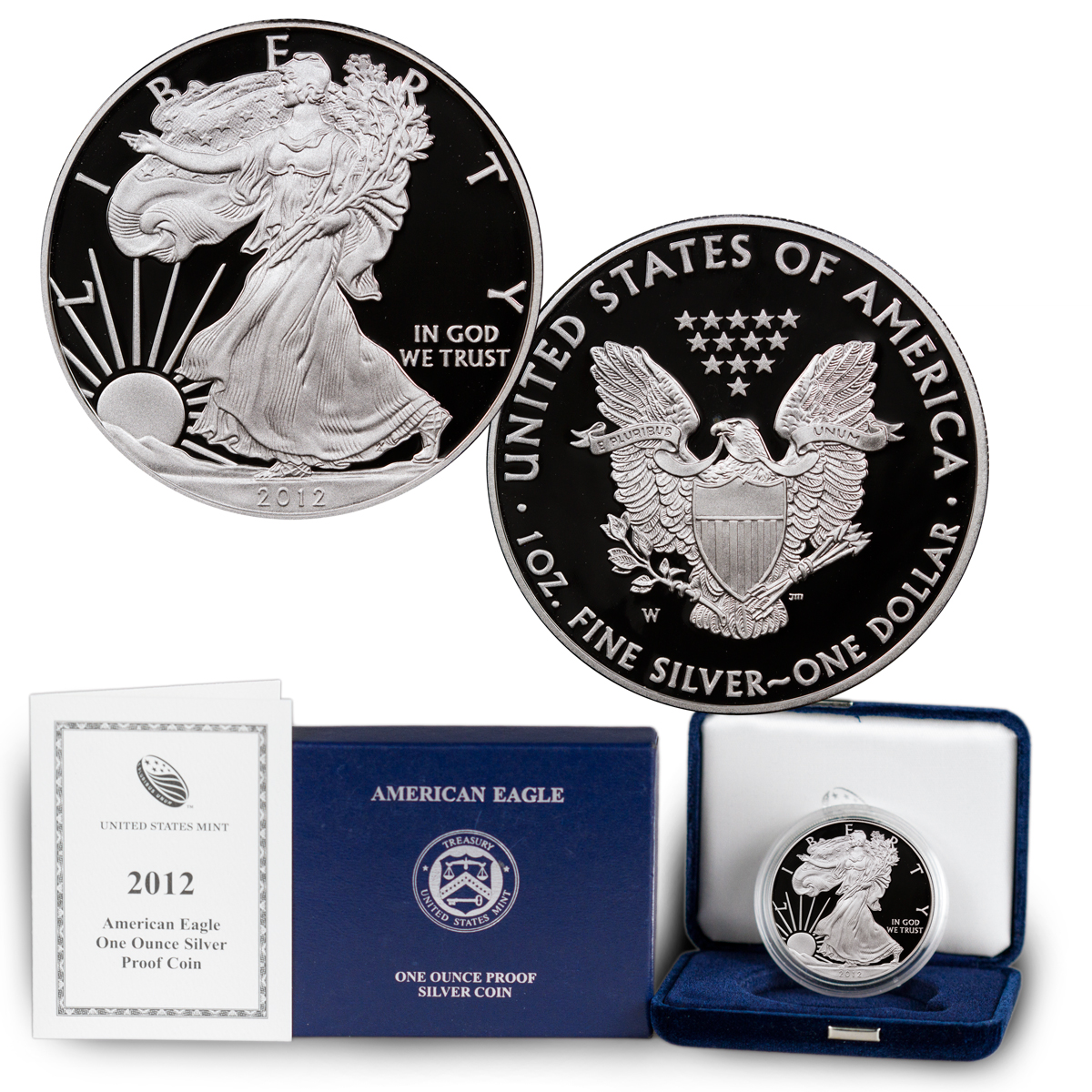 2012-W Proof American Silver Eagle (OGP)