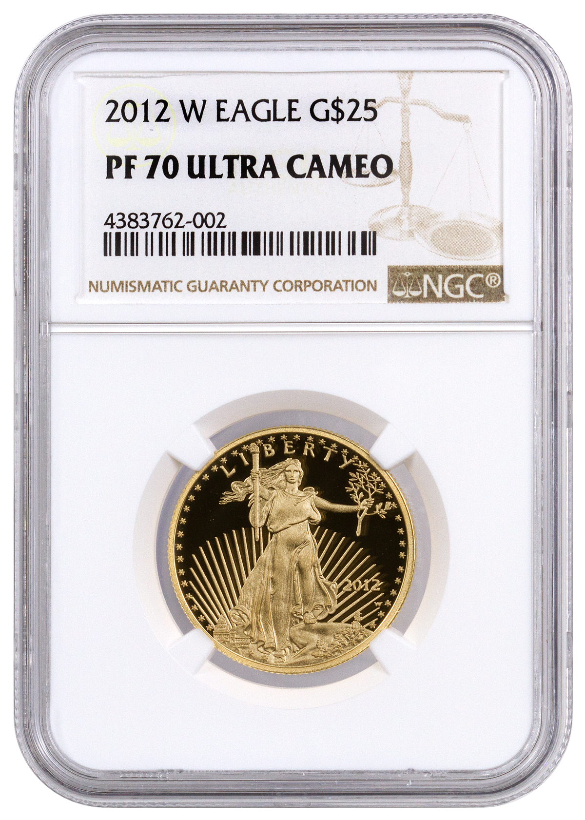 2012-W 1/2 oz Gold American Eagle Proof $25 NGC PF70 UC Brown Label