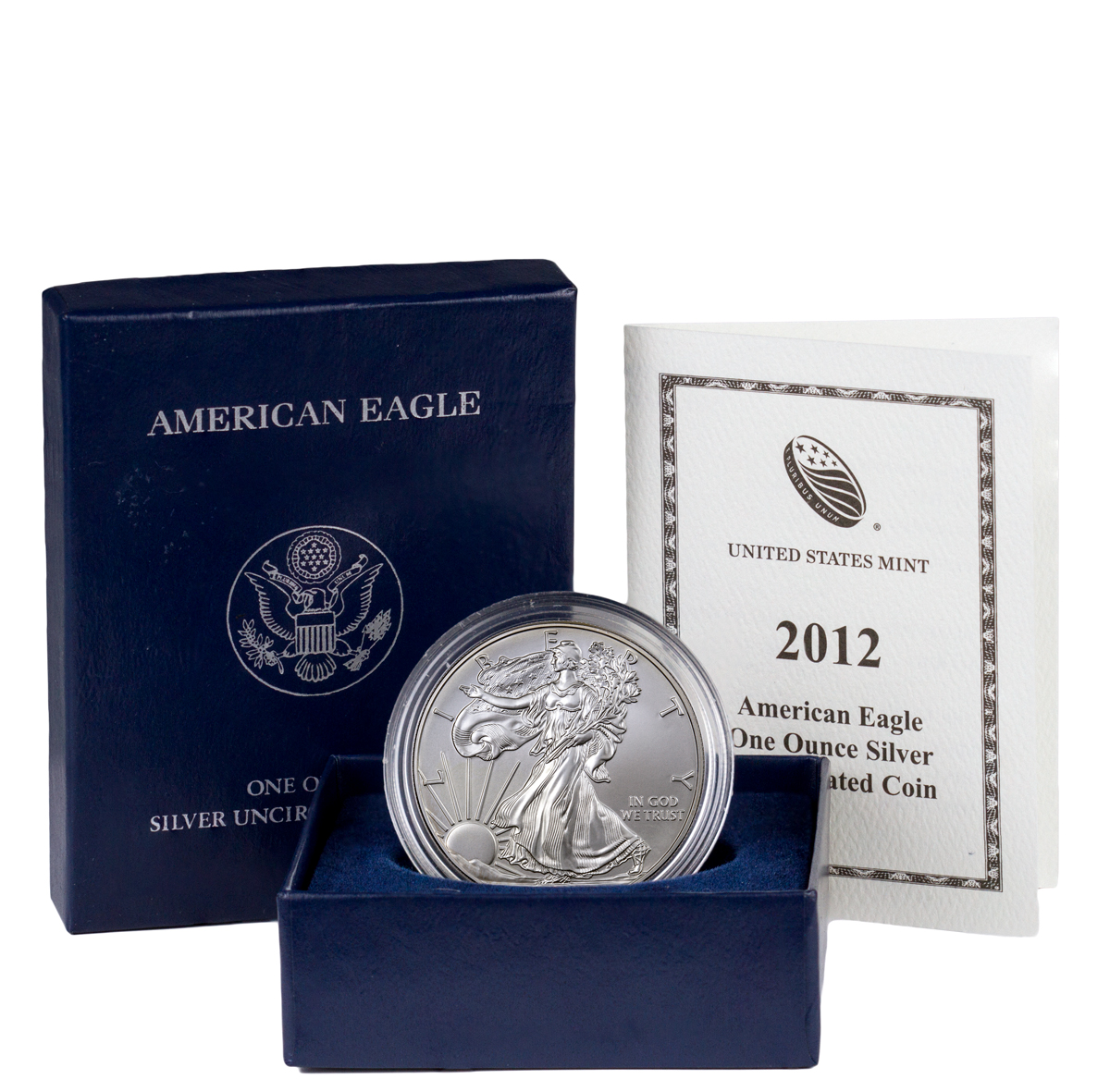 2012-W Burnished Silver Eagle (OGP)
