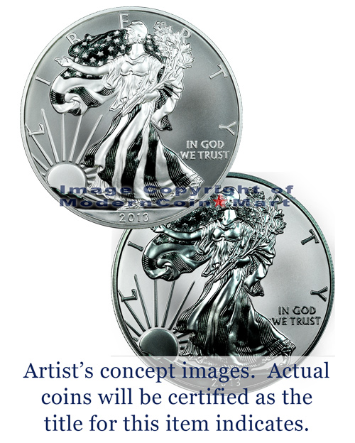 Image 1: 2013-W 2-Coin West Point Silver Eagle (S40) Set NGC or PCGS Graded ***Pre-Order Request***