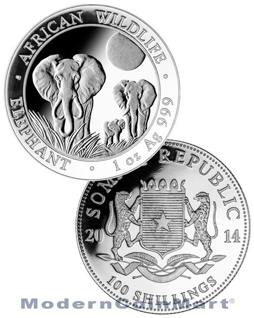 2014 Somalia Elephant 1oz. Silver - various products