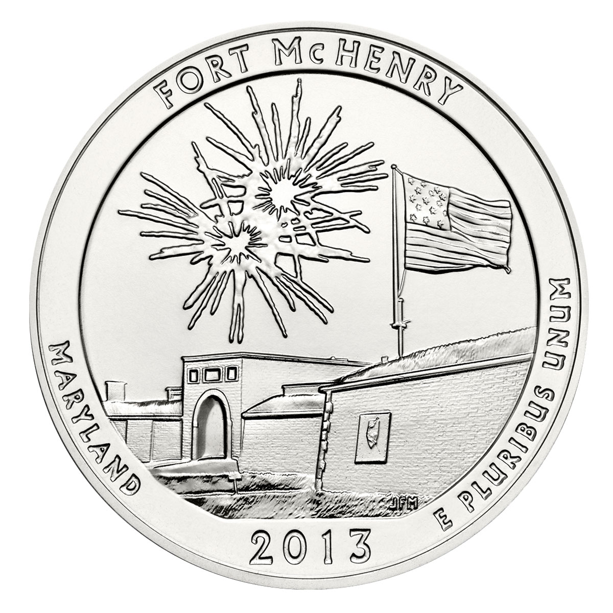 2013 Fort McHenry 5 oz. Silver America the Beautiful Coin GEM BU