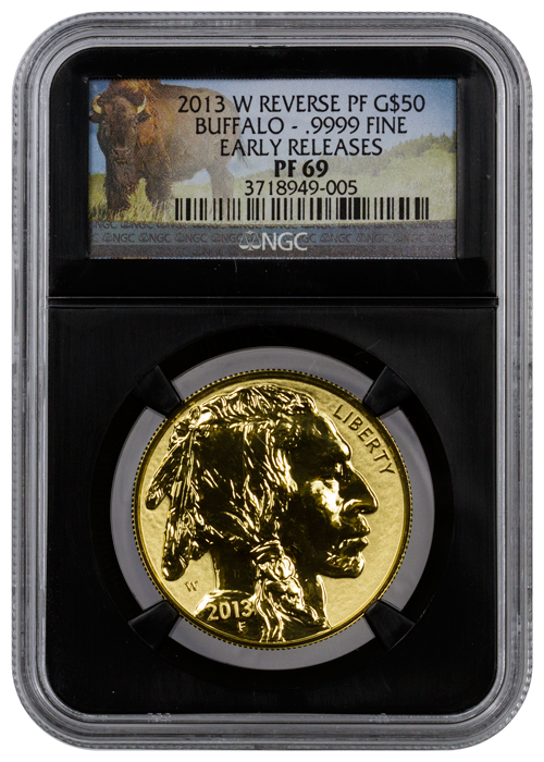 2013 W 1 Oz Reverse Proof Gold Buffalo 50 Ngc Pf69 Er