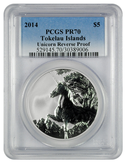 2014 Tokelau 1 oz. $5 Silver Unicorn - Creatures of Myth and Legend