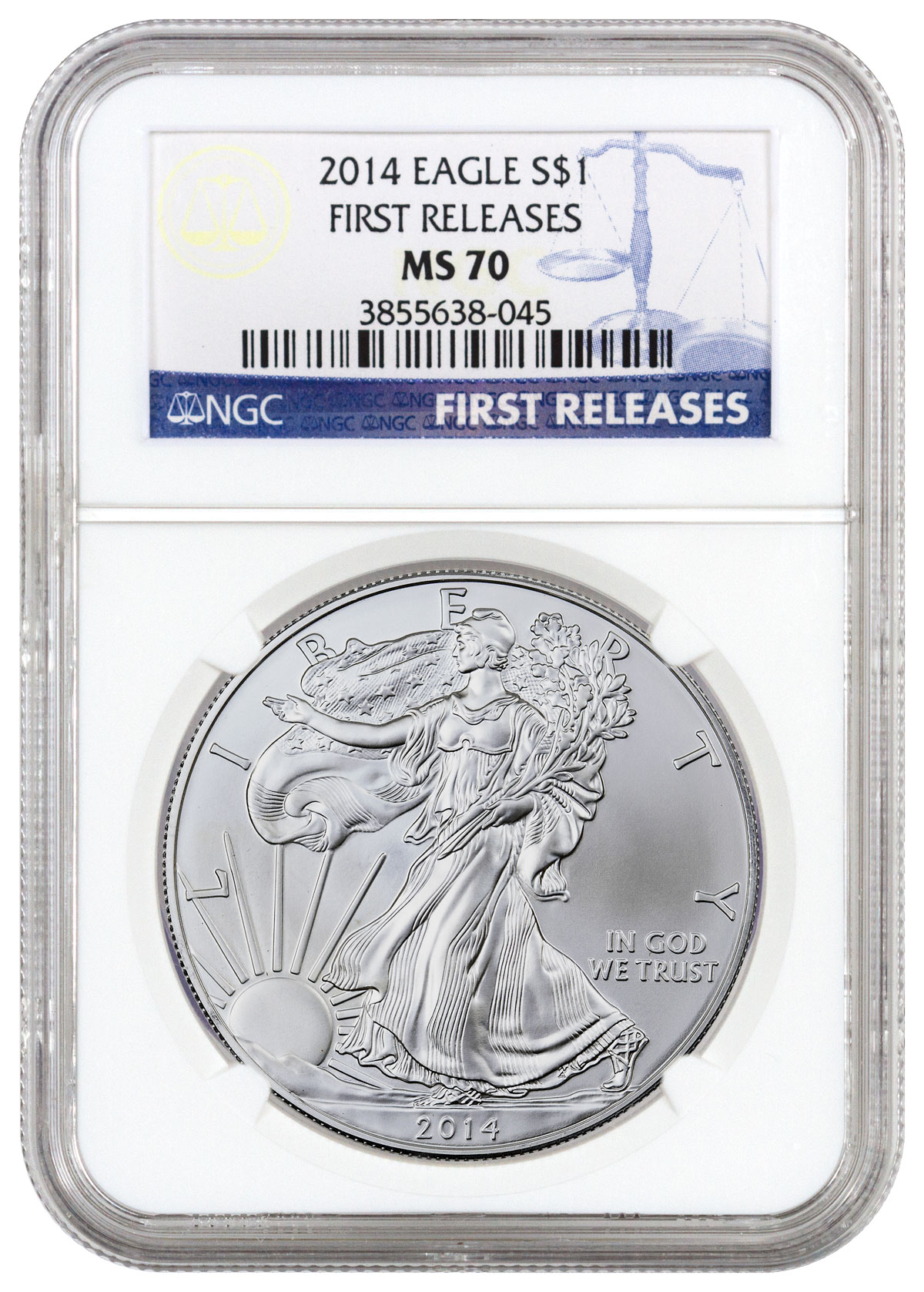 2014 American Silver Eagle NGC MS70 FR
