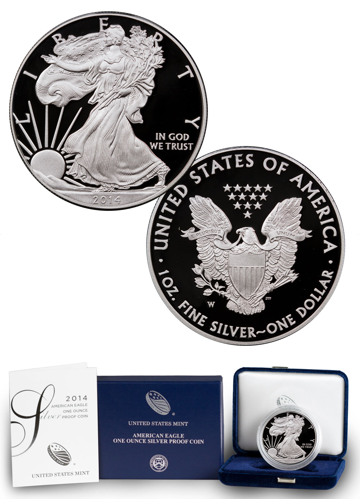 2014-W Proof American Silver Eagle (OGP)
