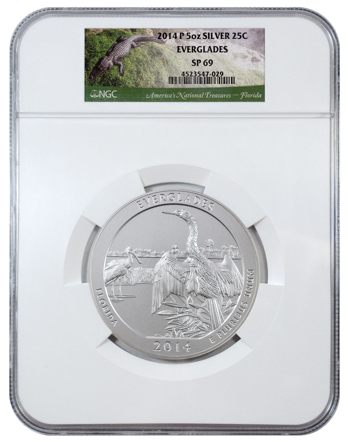 2014-P Everglades 5 oz. Silver America the Beautiful Specimen Coin NGC SP69