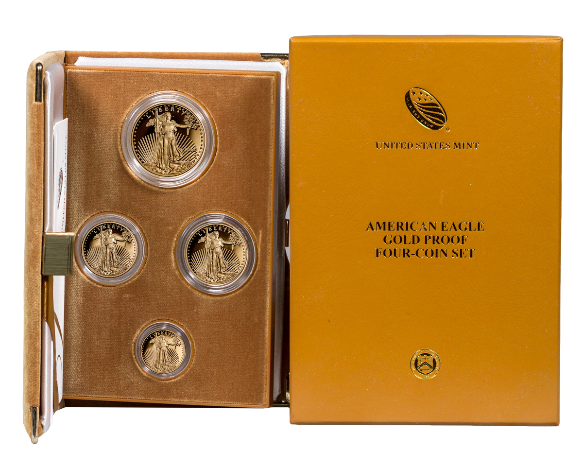 2014-W Gold American Eagle Proof 4-Coin Set GEM Proof