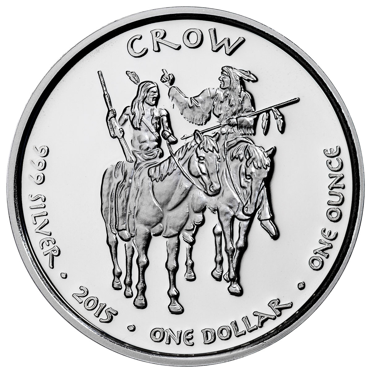 2015 Native American Silver Dollar Montana Crow Timber