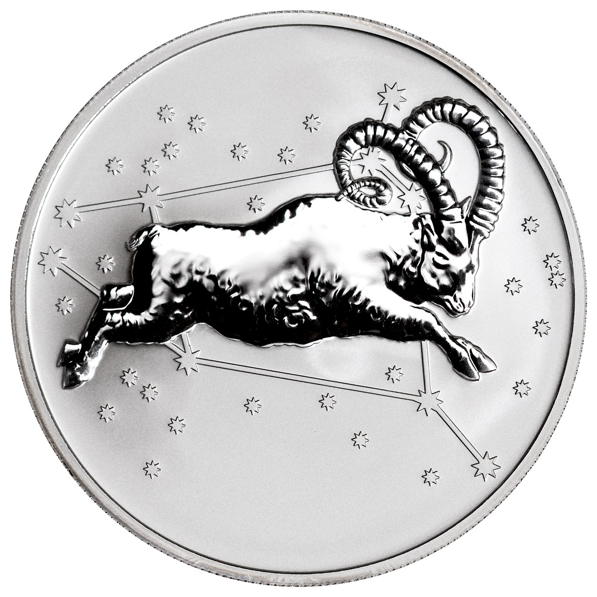 2015 Tokelau Creatures of Myth and Legend - Aries 1 oz Silver Reverse Proof $5 Coin (GEM Reverse Proof - Original Mint Capsule)