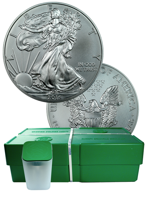 2015 American Silver Eagle Monster Box Gem Bu Mint Sealed