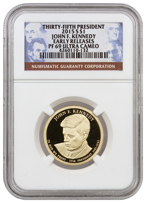 2015-S Proof Presidential Dollar - John F. Kennedy - NGC PF69 UC Early Releases