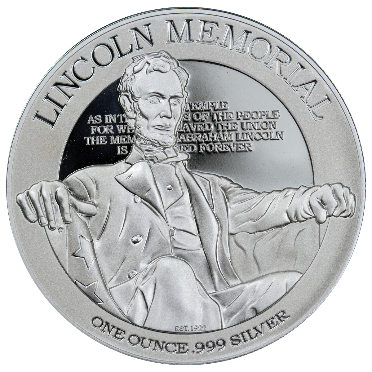 2015 Niue $2 1 oz. Proof Silver Americas National Monuments - Lincoln Memorial  - GEM Proof (Original Mint Packaging)