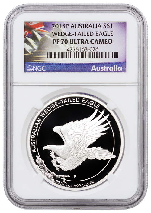 2015 P Australia 1 Oz Silver Wedge Tailed Eagle Proof 1
