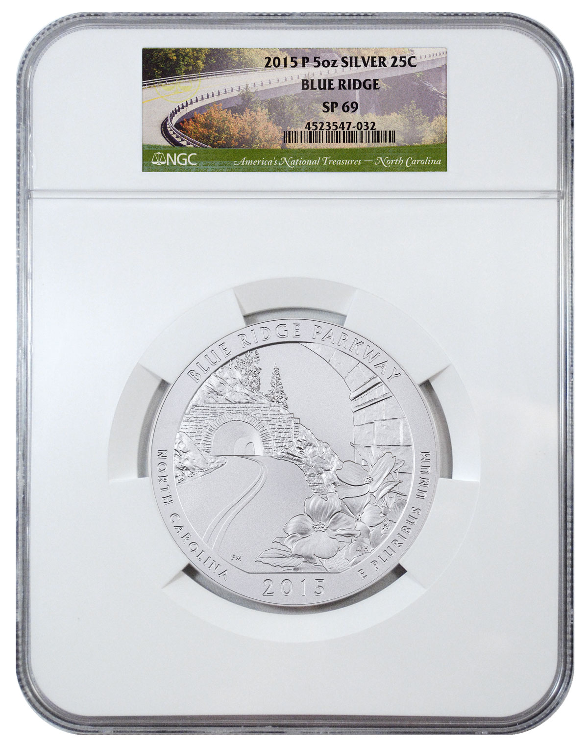 2015-P Blue Ridge 5 oz. Silver America the Beautiful Specimen Coin NGC SP69