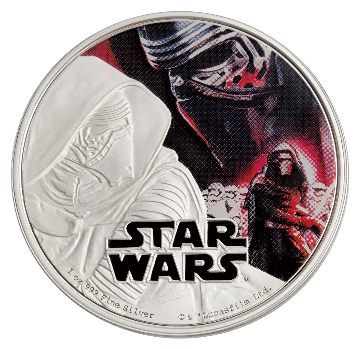 2016 Niue Star Wars: The Force Awakens - Kylo Ren 1 oz Silver Colorized Proof $2 GEM Proof OGP