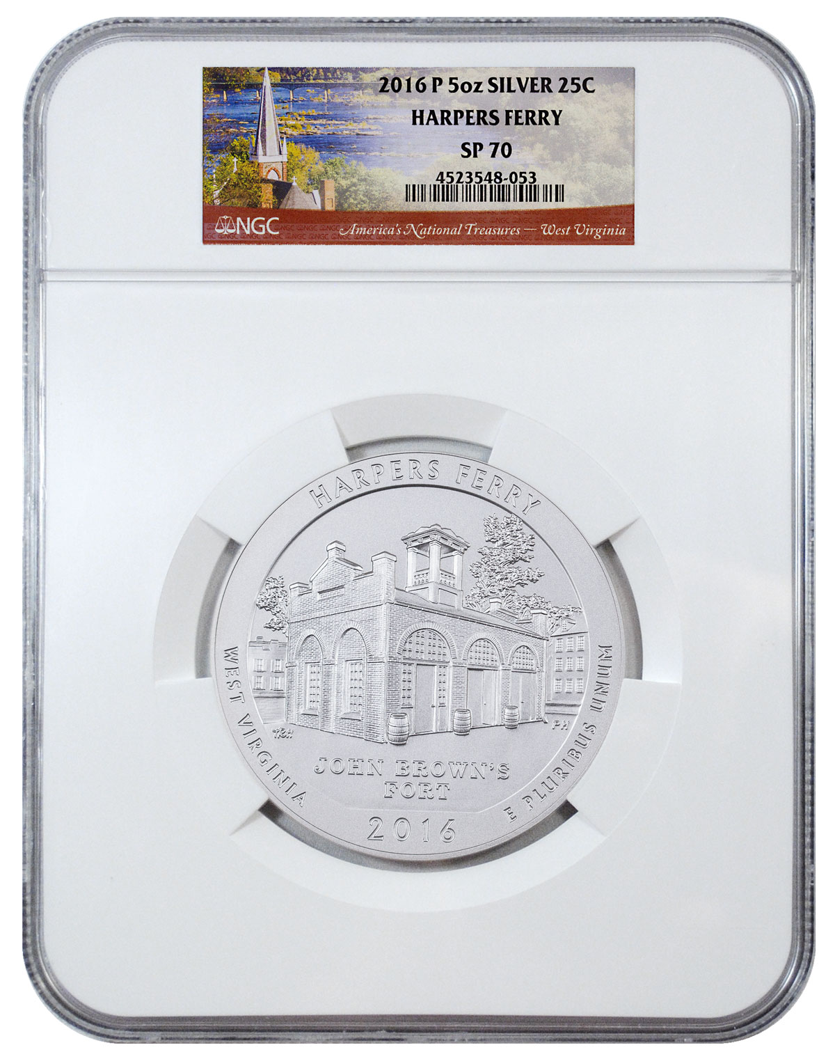 2016-P Harpers Ferry 5 oz. Silver America the Beautiful Specimen Coin NGC SP70