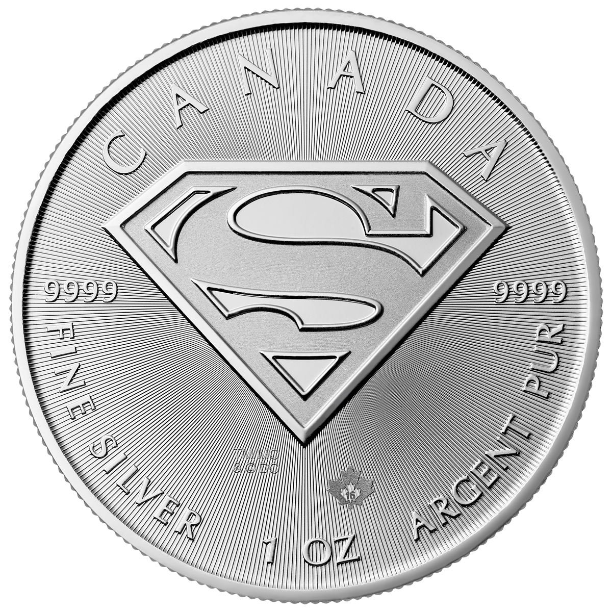 2016 Canada DC Comics Superman 1 oz Silver $5 Coin GEM BU