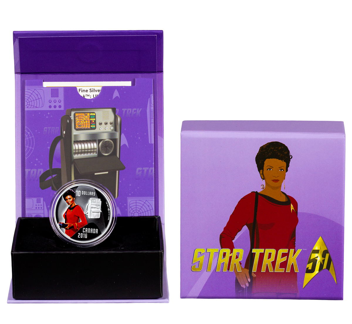 2016 Canada $10 1/2 oz. Colorized Proof Silver Star Trek - Uhura - GEM Proof (Original Mint Packaging)