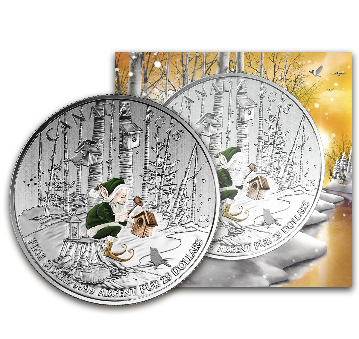 2016 Silver $25 WOODLAND ELF COIN