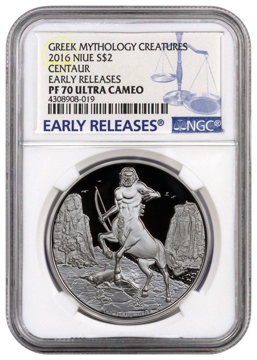 2016 Niue Creatures Of Greek Mythology Centaur 1 Oz
