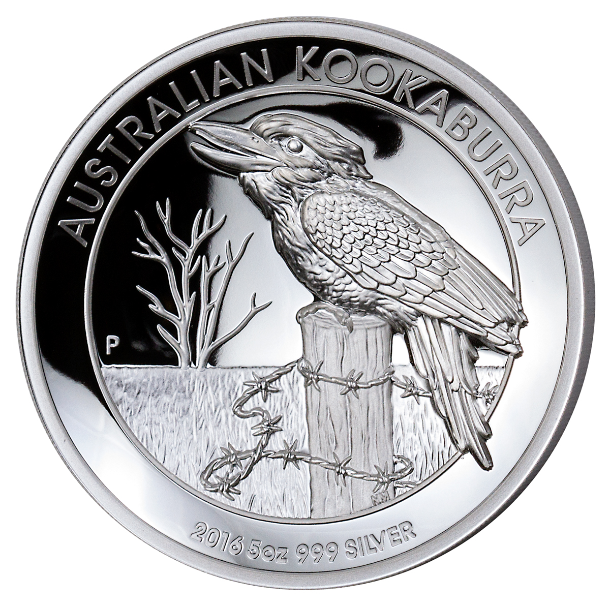 2016-P Australia 5 oz High Relief Silver Kookaburra Proof $8 GEM Proof OGP