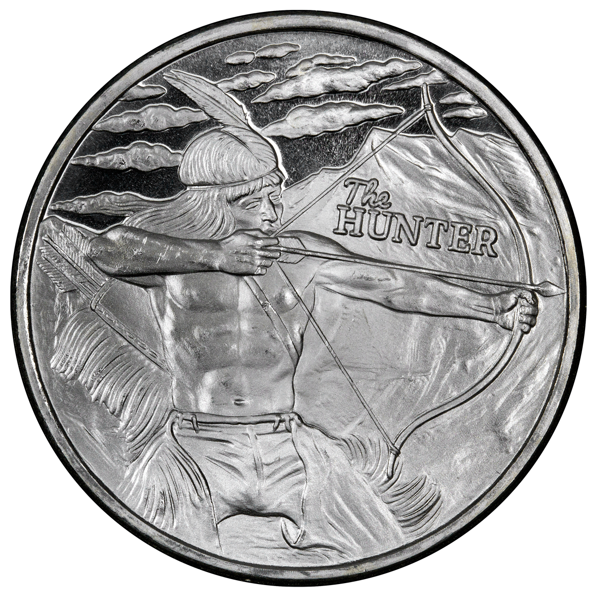 2016 Highland Mint The Hunter 1 Oz Silver Round
